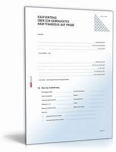 Kauf Eines Gebrauchten Hauses : kaufvertrag gebrauchtes kfz auf probe muster zum download ~ Lizthompson.info Haus und Dekorationen
