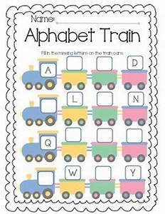 alphabet train is used to fill in missing letters from the With alphabet name train letters