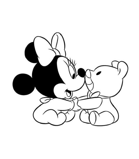 cute baby minnie mouse coloring pages cartoon coloring