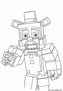 Minecraft Freddy Fnaf Coloring Pages Printable