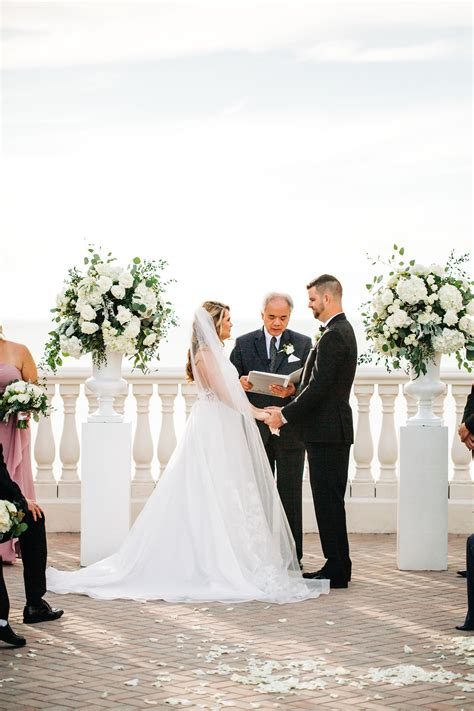 Florida Bride and Groom During Rooftop Waterfront Wedding