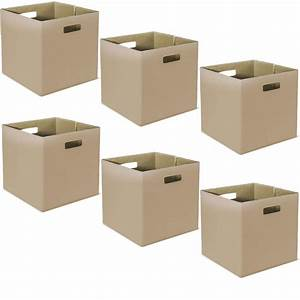 Set Of 6 Collapsible Fabric Storage Bins