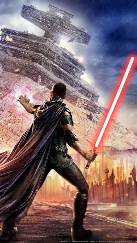 hd background star wars  force unleashed red lightsaber