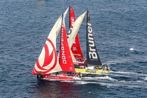 volvo ocean race theyre    blistering pace