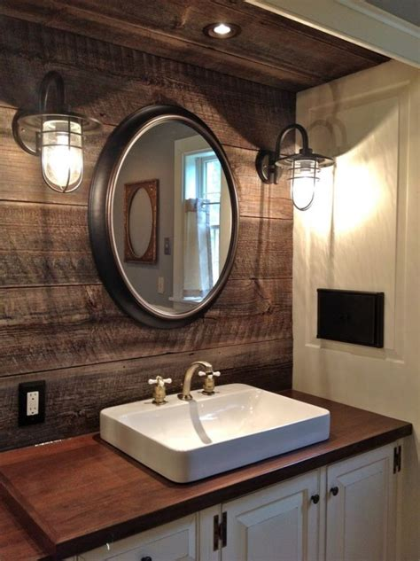 diy industrial bathroom mirror 32 cozy and relaxing farmhouse bathroom designs digsdigs