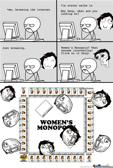 Monopoly Memes - women s monopoly rage by serkan meme center