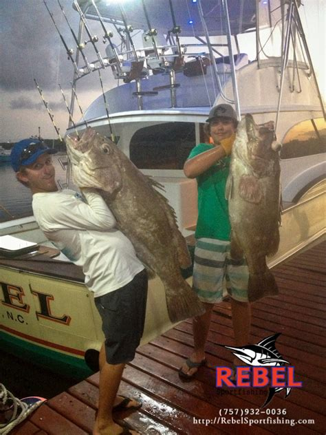 fishing grouper drop deep charter beach nice virginia rebel huge va eye caught offshore boat tuna reddit