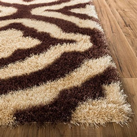 thick plush area rugs luster lattice shag beige taupe solid plain modern ultra