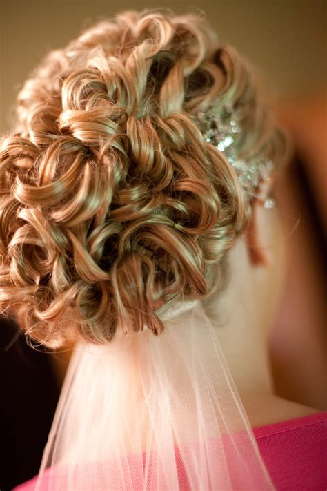 With Underneath Hairstyles by Curly Updo Veil Underneath Wedding Hair Styles In 2019
