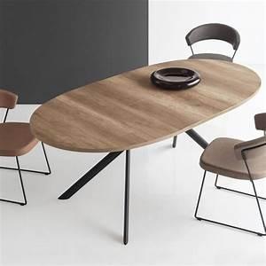 Table Ovale Design : connubia calligaris giove table ovale extensible en bois l140 190 cm ~ Teatrodelosmanantiales.com Idées de Décoration