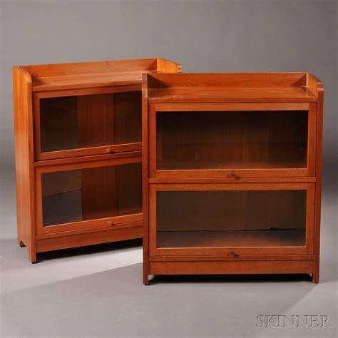 stickley bookcase for sale pair of stickley two door barrister bookcases sale