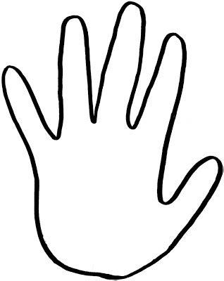 handprint template clipart