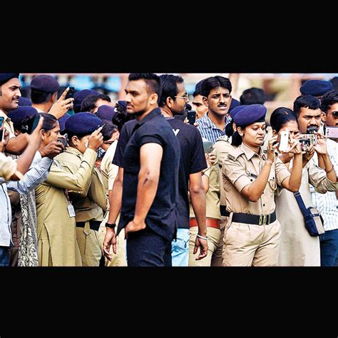 rajkot police india africa south vs hardik patel field pti officials clicking cricketers session practice saturday during