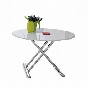 Grande Table Basse Ronde : table relevable ronde maison design ~ Teatrodelosmanantiales.com Idées de Décoration