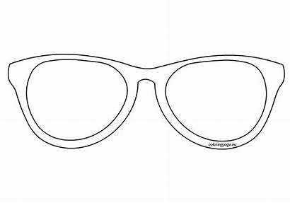 Sunglasses Template Coloring Printable Outline Pages Glasses