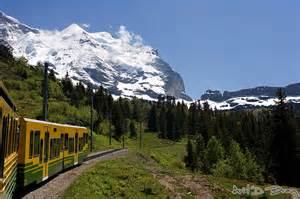 Train through Swiss Alps