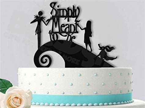 Jack and Sally Simply Meant To Be with Zero Wedding Cake