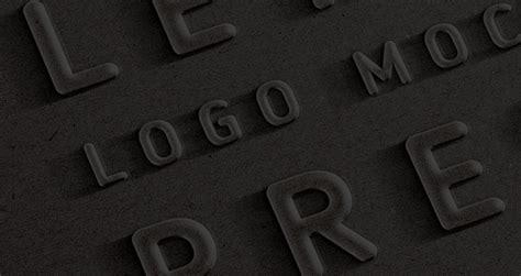 embossed  logo mock  template psd mock  templates