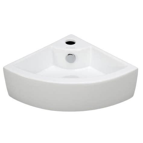 elanti wall mounted corner bathroom sink  white ec