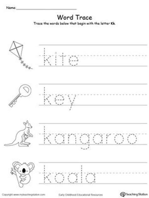 trace words that begin with letter sound k elem ed 795   9bbbbd7d0fcaf773b1bdea7df95786d6 letter sounds printable worksheets