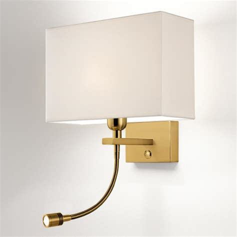 hotel fabric shade bedside wall light with a soft reading