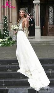 boho wedding dress 2015 bohemian off shoulder sleeveless With boho chic wedding dresses