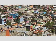 Barrio pobre a las afueras de Ciudad de México