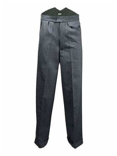 Trousers Fishtail Grey Mens 1940s Authentic