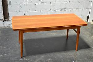 Swedish mid century expandable adjustable height coffee for Movable coffee table