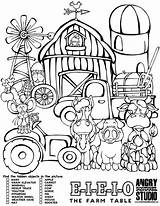 Hidden Farm Objects Coloring Pages Table Animal Elevator Animals Activity Pdf Printable Colouring Barn Easy Books Tree Kid Downloads Squirrel sketch template