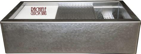 hammered stainless steel kitchen sink custom stainless steel workstation kitchen sinks that look 6977
