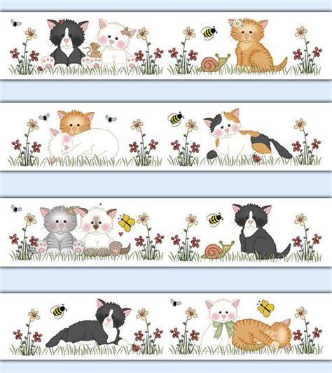 Farm Animal Wallpaper Border - cat wallpaper border decal wall nursery farm