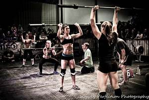 CrossFit; thrusters...just learned how to do these. Very ...