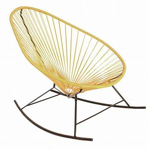 Fauteuil Acapulco Jaune : fauteuil bascule acapulco de boqa avec structure noire jaune moutarde ~ Teatrodelosmanantiales.com Idées de Décoration