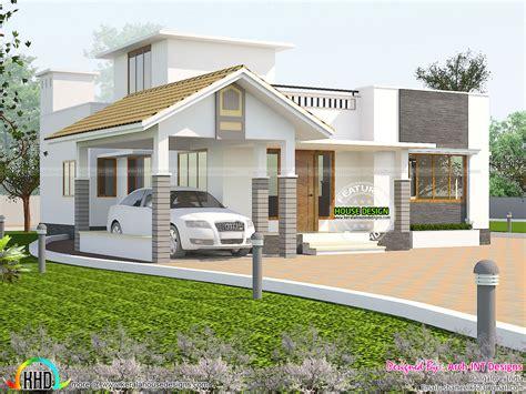 Ebenerdiges Haus ground floor house plan kerala home design and floor plans