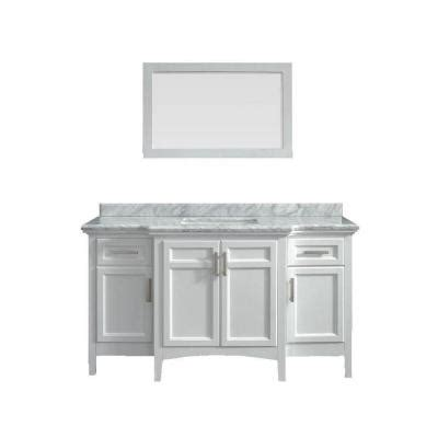 60 sink vanity home depot sassy 60 in vanity in white with marble vanity top in