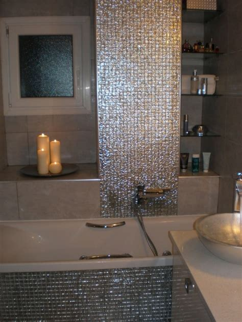 Glass Mosaic Bathroom Tiles by 17 Best Images About Redoing My Bathroom On