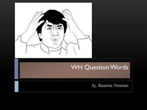 Ppt  Wh Question Words Powerpoint Presentation Id5577210