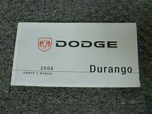 2008 Dodge Durango Suv Owner Manual User Guide Book Sxt