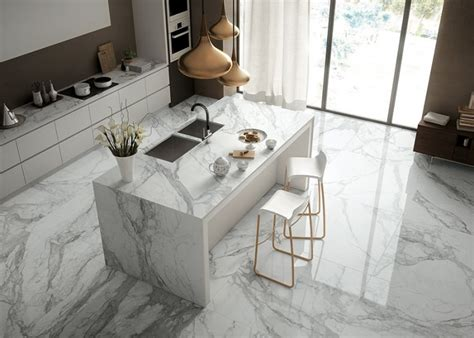 white marble kitchen floor marble interior trends for luxurious home interior purpose 1435