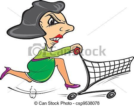 vektor kunde eile gehen shoppen zu der einkaufszentrum csp9538078 suchen sie