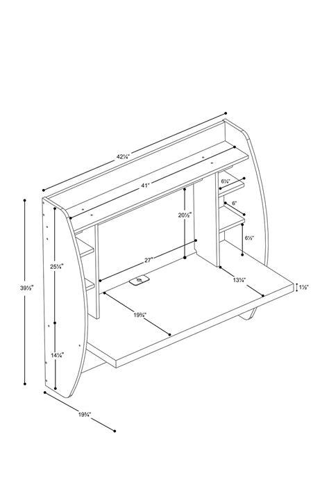 Prepac   Floating White Storage Desk   Floating desk, Wall