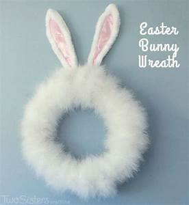 Easter Bunny Wreath - Two Sisters Crafting