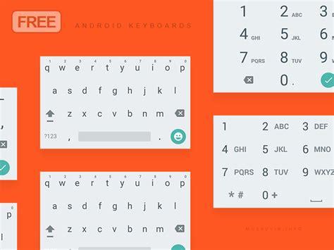 android material keyboard light psd  musavvir ahmed