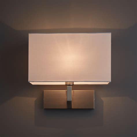 wollstone fabric shade white single wall light departments diy at b q
