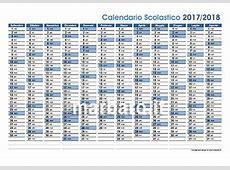 Calendario Scolastico 20172018 da stampare