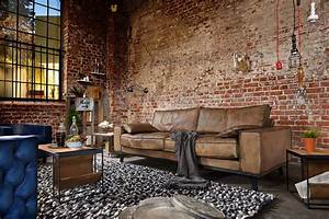 Vintage Wohnzimmer Möbel : sofa dwayne leder antik 100 von handgefertigt loft industriedesign sofa m bel und wohnzimmer ~ Frokenaadalensverden.com Haus und Dekorationen