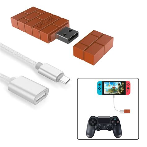 controller switch nintendo 8bitdo adapter wireless ps4 connect xbox amazon windows mac silver raspberry pi adapters cables rated solved