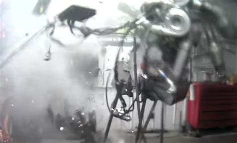 Watch A Diesel Engine Explode Dramatically On The Dyno