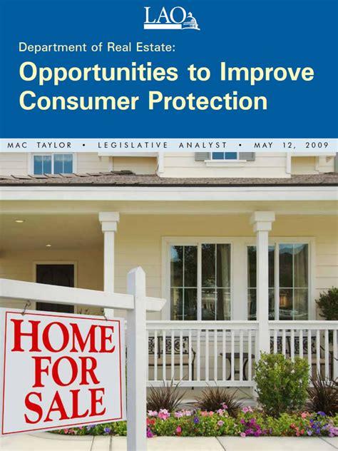 bureau of consumer affairs department of estate opportunities to improve